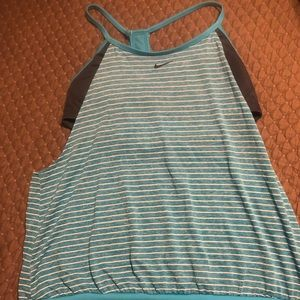 Nike layered racer back sports tankini